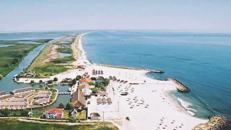 Gura Portitei Beach Black Sea coast Danube Delta