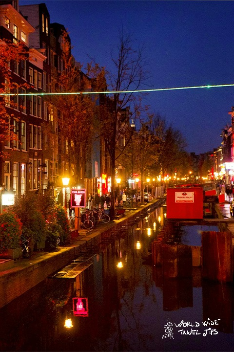 Amsterdam Red Light District Canal