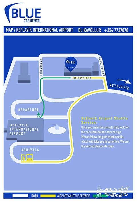 Blue Car Rental Keflavik Airport office