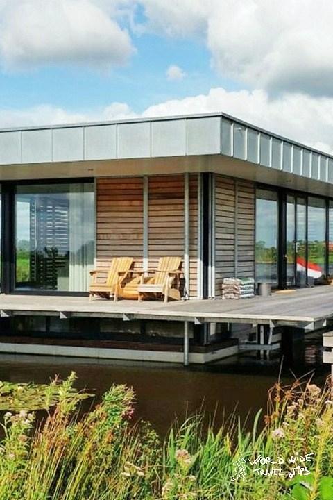 House Boat Goengahuizen Netherlands countryside
