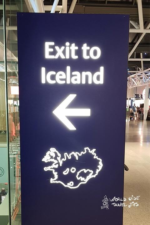 Iceland Airport Keflavik arrive in Iceland