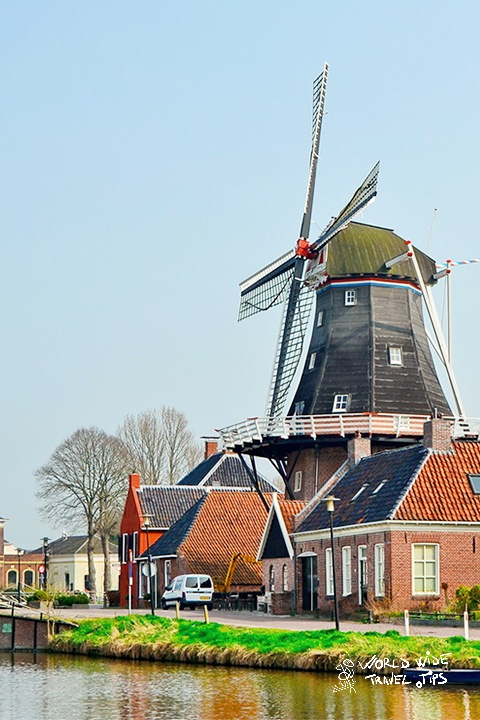 Molen Hunsingo Old Dutch windmill Netherlands Countryside