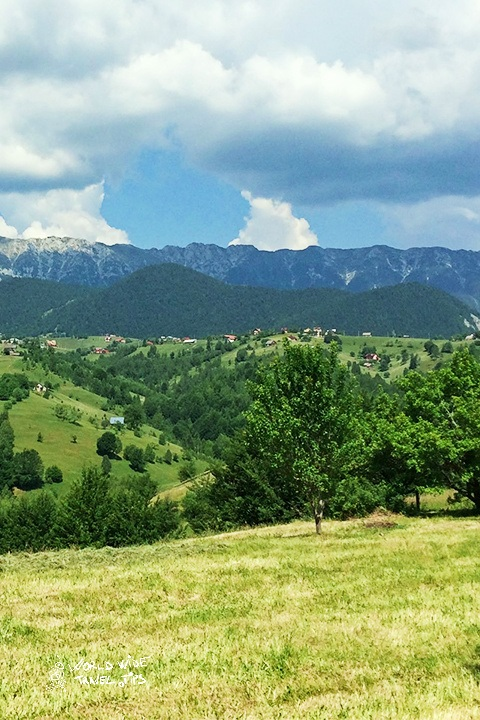 Romania summer mountains view from Bucegi