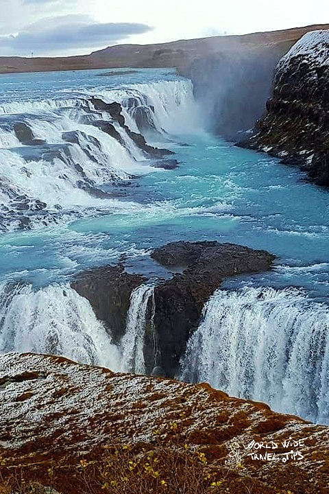 Iceland Gullfoss Waterfall autumn