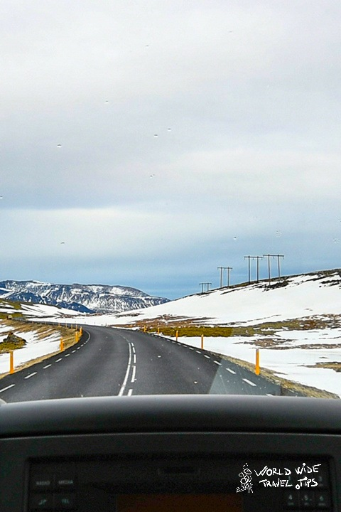 Iceland Vehicle on the road