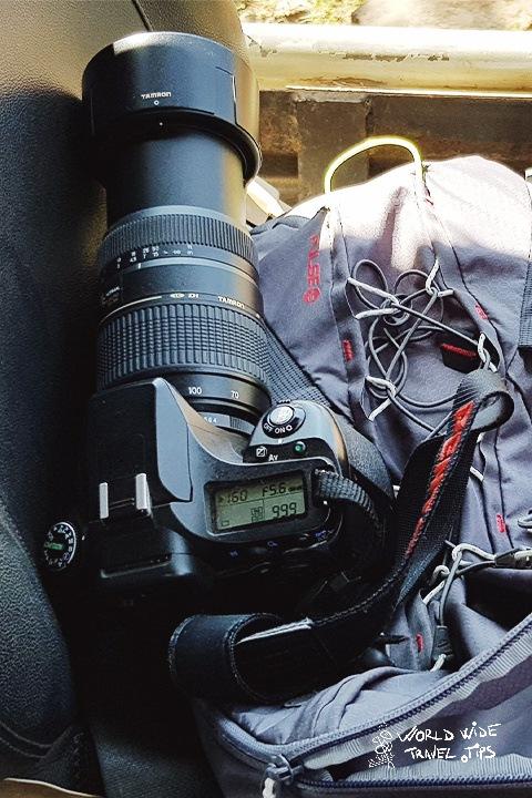 Pentax DSLR Camera with long lens