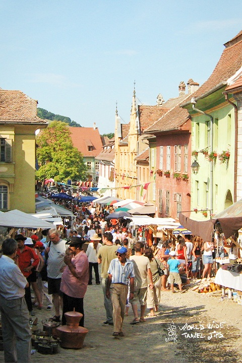 Sighisoara colourful streets