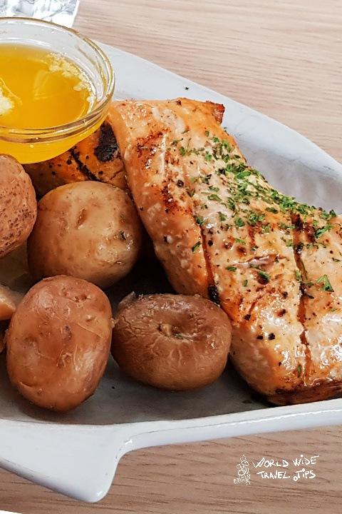 Tastiest grilled salmon in Husavik Iceland