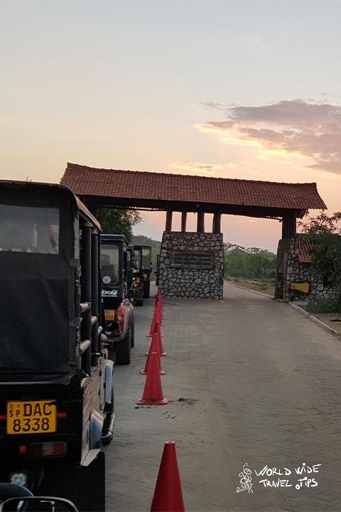 sunrise in Yala National Park Safari