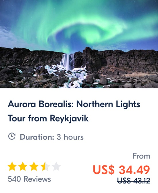 Aurora Borealis Northern Lights Tour from Reykjavik
