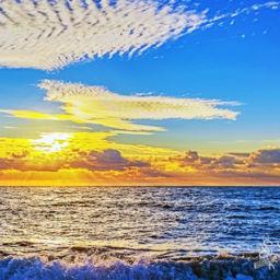 Bea ch Sunset on Black Sea Coast