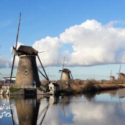 Countryside of the Netherlands Windmills Kinderdijk