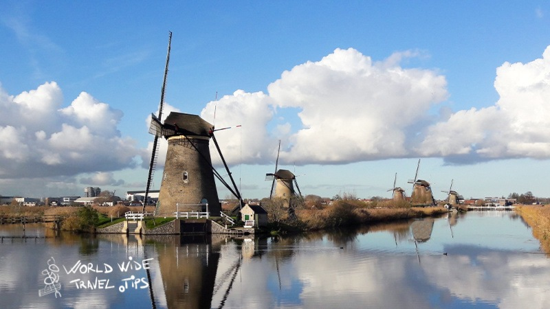 Countryside of the Netherlands Windmills Kinderdijk