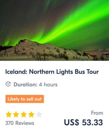 Iceland Northern Lights Bus Tour