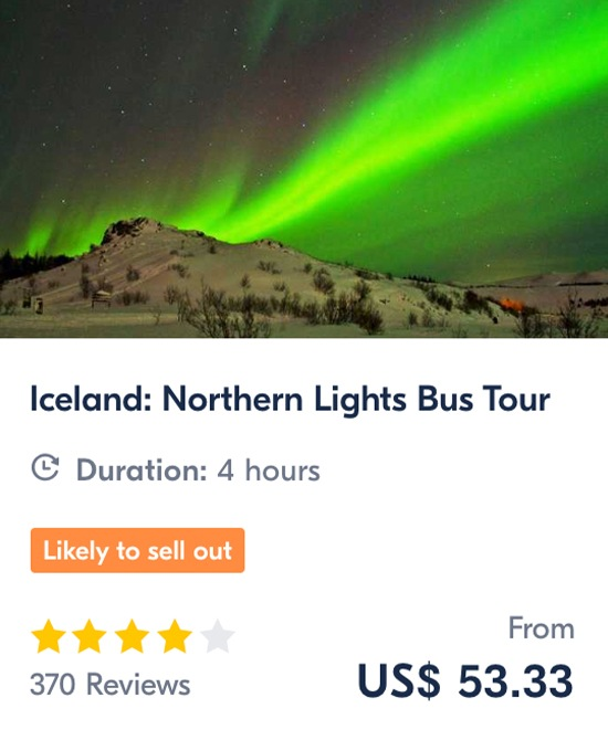 Iceland Northern Lights Bus Tour Iceland Aurora