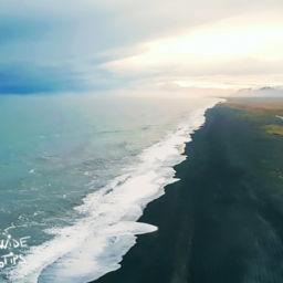 Sunset Iceland Dyrholaey Cape south of Iceland
