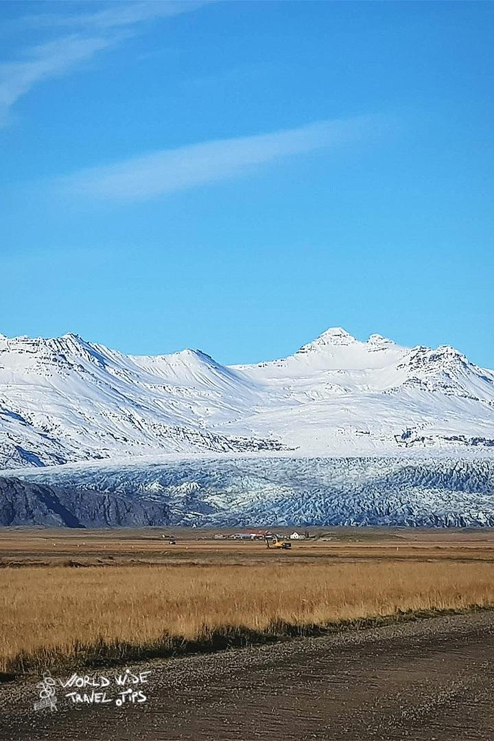Vanajokull Glacier Iceland from the road