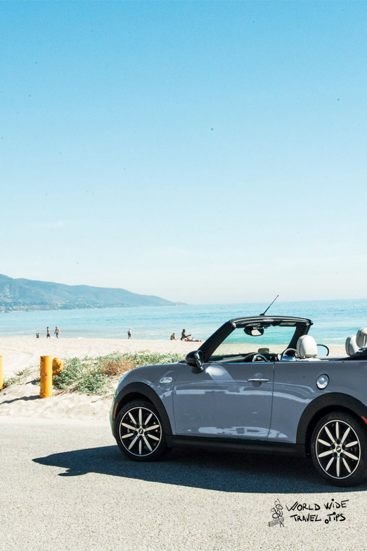 car for beach holiday convertible