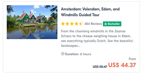 Amsterdam Volendam, Edam, and Windmills Guided Tour
