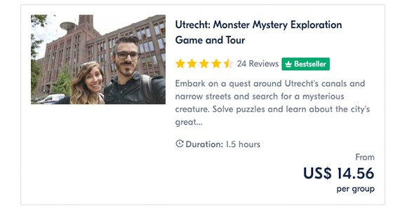 Utrecht Monster Mystery Exploration Game and Tour