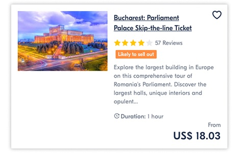 Bucharest Parliament Palace Skip-the-line Ticket