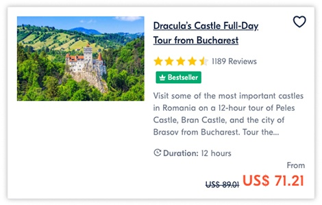 Dracula Castle Full Day Tour from Bucharest