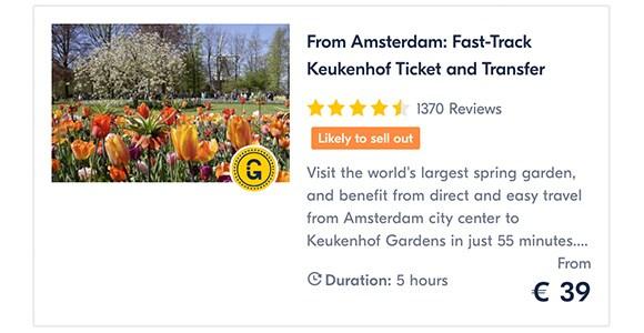 Amsterdam Keukenhof Guide