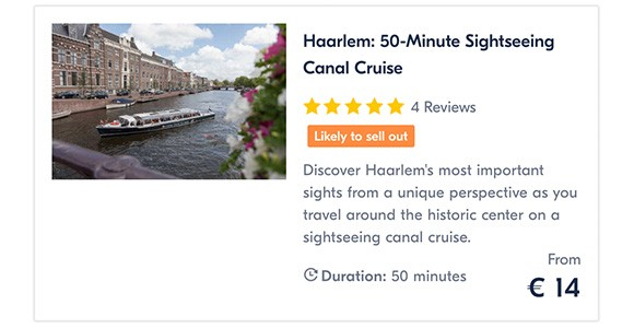 Haarlem 50-Minute Sightseeing Canal Cruise