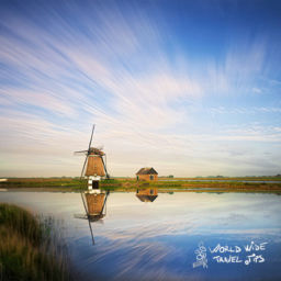 Holland countryside Netherlands Windmill Landscape