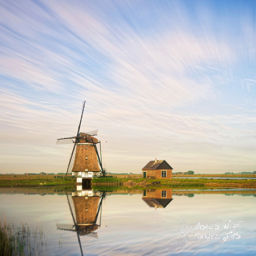 the Netherlands Windmill countryside
