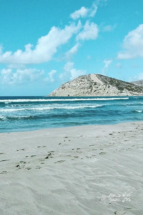 Rhodes Beach sand