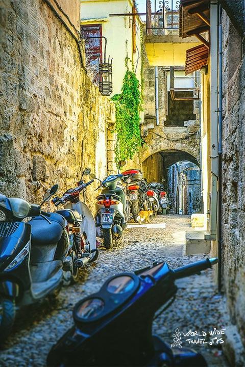 Rhodes narrow street