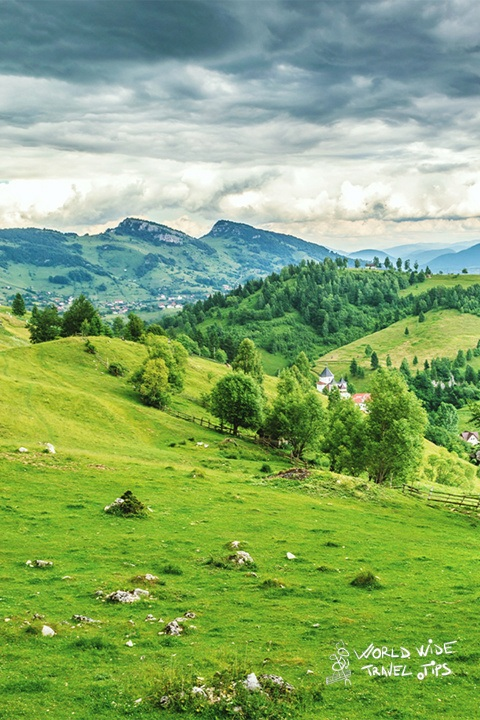 Romania hills in transylvania