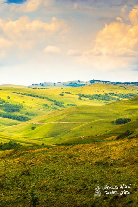 Transylvania hills in Romania