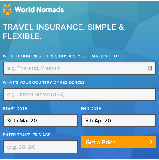 Travel insurance your quote