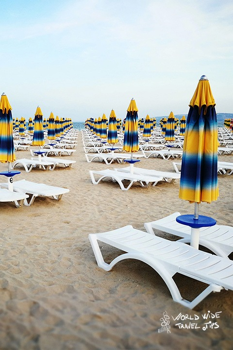 Bulgaria Beach sun beds