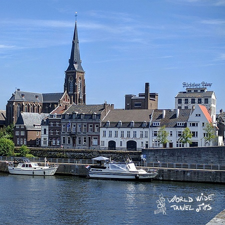 towns in Netherlands Maastricht river view