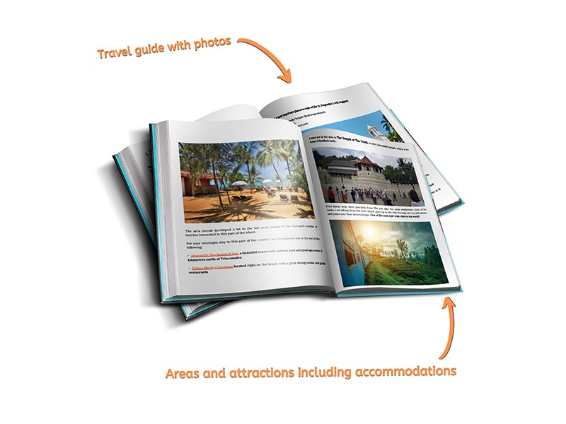 Sri Lanka travel guidebook areas and attractions