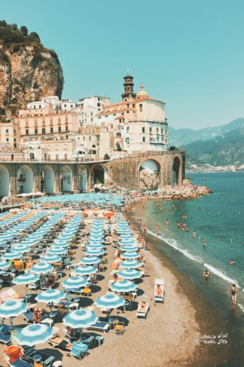 Atrani Beach Italy coast cities