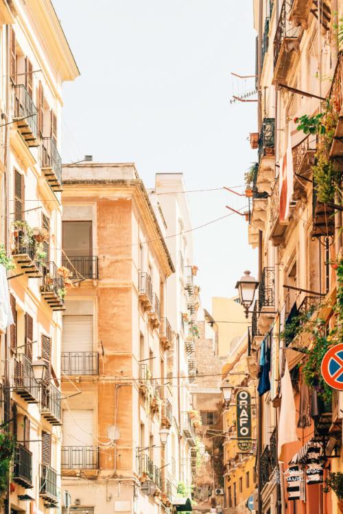 Cagliari Italy city on the coast