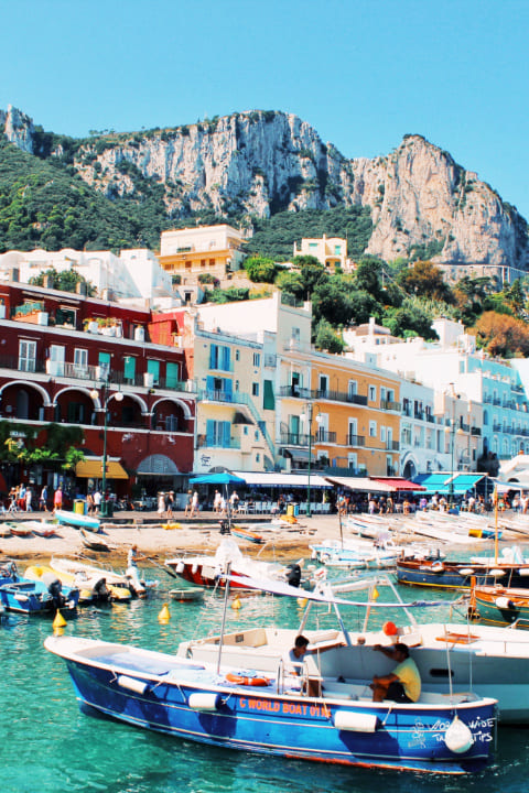 Capri Harbour Naples Italy