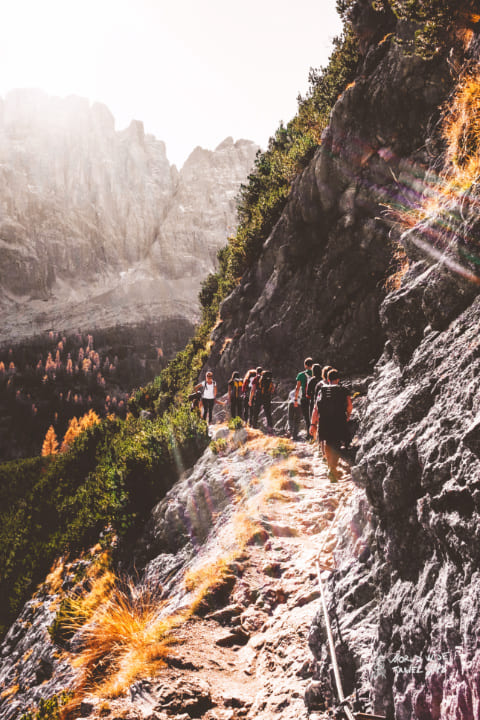 Climb Dolomites Italy Sorapiss Auronzo di Caodre via ferrata best places to visit northern italy