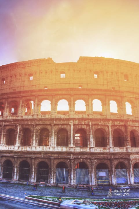 Colosseum Rome Italy Colosseo Sunset