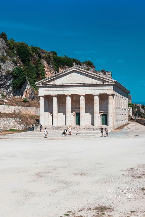 Corfu Greece Ancient Ruins Temple places to see in Greece
