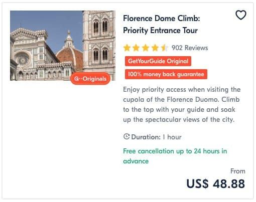 Florence Dome Climb Priority Entrance Tour
