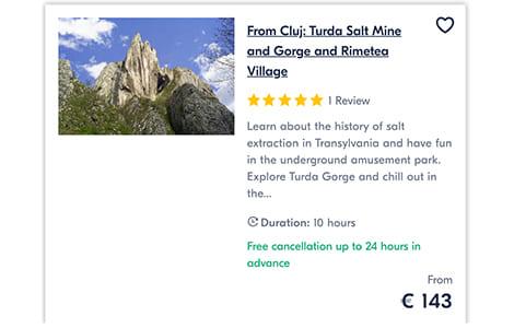 From Cluj Turda Salt Mine and Gorge and Rimetea Village
