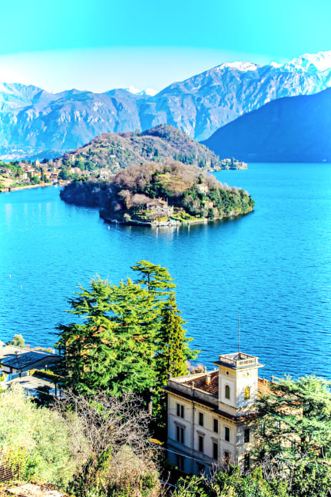 Lake Como Italy Mountains Lake