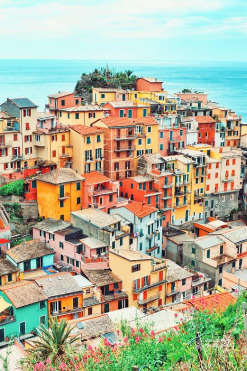 Manarola cities on the coast of Italy