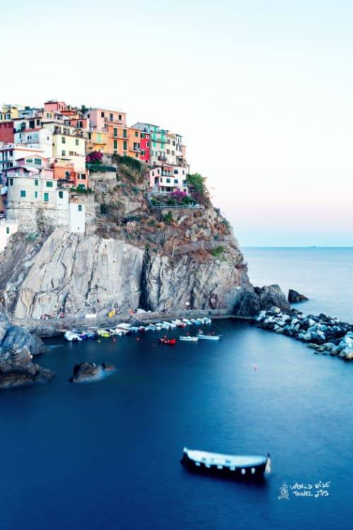 Manarola Italy cliff City Port Sea