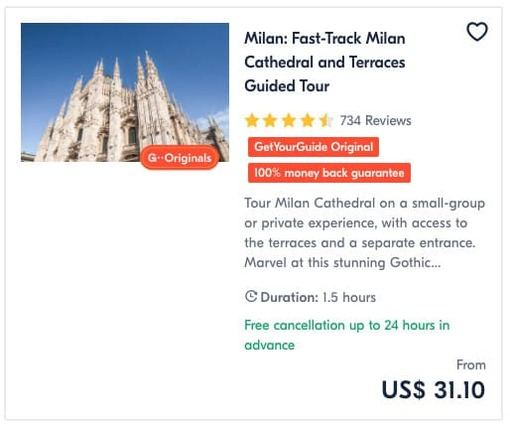 Milan Fast-Track Milan Cathedral and Terraces Guided Tour